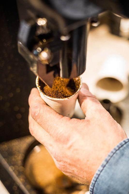 Kaffee frisch mahlen